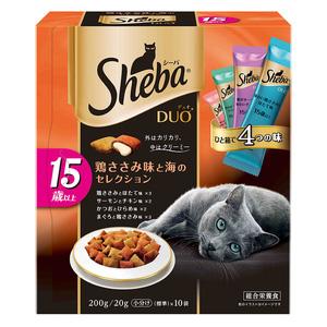 シーバ デュオ 15歳以上 鶏ささみ味と海のセレクション 200g