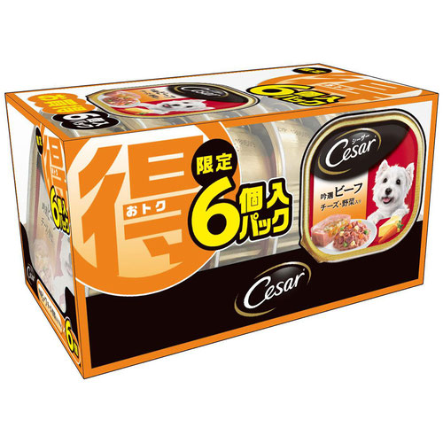 シーザー 吟選ビーフ チーズ・野菜入り 100g 限定6個入パック