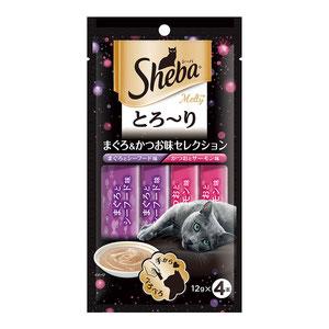シーバ とろ~り メルティ まぐろ&かつお味セレクション 12g×4P