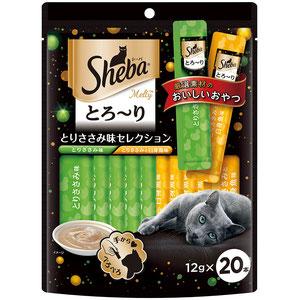 シーバ とろ~り メルティ とりささみ味セレクション 12g×20P