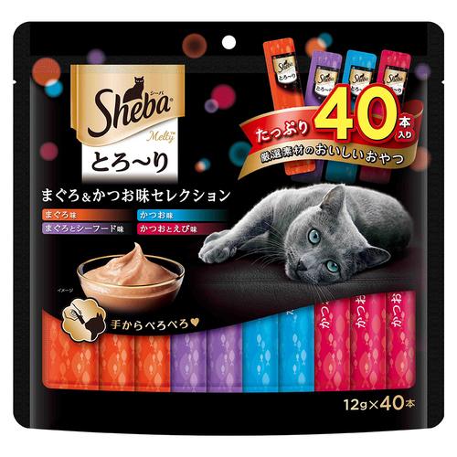 シーバ とろ~り メルティ まぐろ&かつお味セレクション 12g×40P