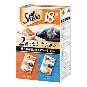 シーバ リッチ 18歳以上 ごちそうフレーク 鶏ささみ味と海のアソート 35g×6袋【まとめ買い】