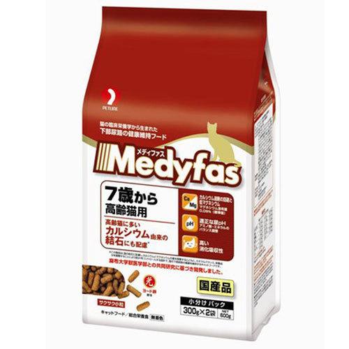 メディファス 7歳から 高齢猫用 チキン味 600g【処分セール】