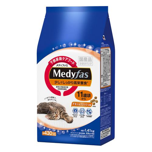 メディファス 少しでしっかり高栄養食 11歳頃から チキン&フィッシュ味 1.41kg