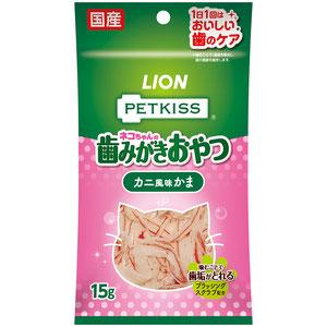 PETKISS(ペットキッス) FOR CAT オーラルケア カニ風味かま 15g