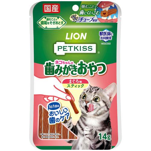 PETKISS(ペットキッス) 猫ちゃんの歯みがきおやつ まぐろ味 スティック 7本