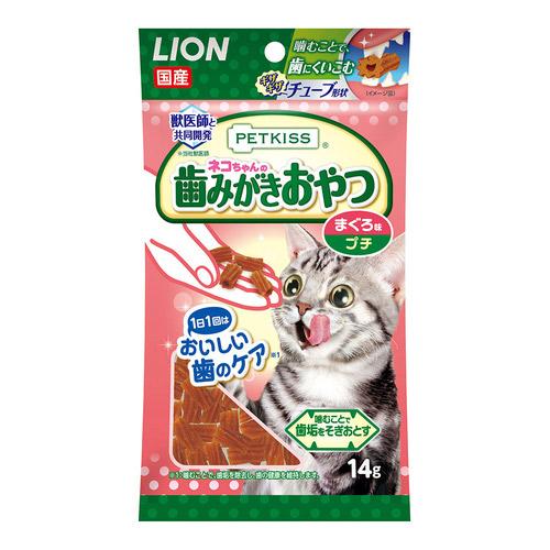 PETKISS(ペットキッス) 猫ちゃんの歯みがきおやつ まぐろ味 プチ 14本