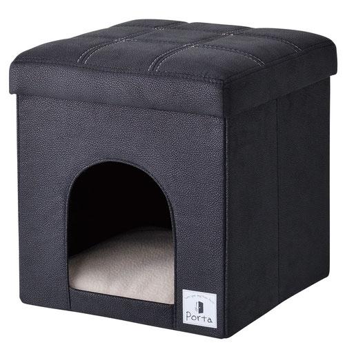 ペティオ Porta(ポルタ) ドッグハウス&スツール ブラック レギュラー【在庫限り】