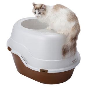 ペティオ necoco(ネココ) 上から入る猫トイレ ブラウン