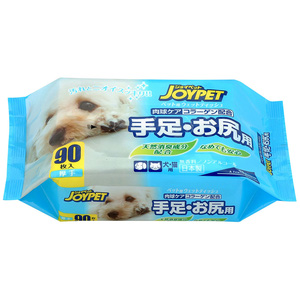 JOYPET(ジョイペット) ウエットティッシュ 手足・お尻用 90枚【在庫限り】