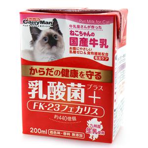キャティーマン ねこちゃんの国産牛乳 乳酸菌プラス 200mL