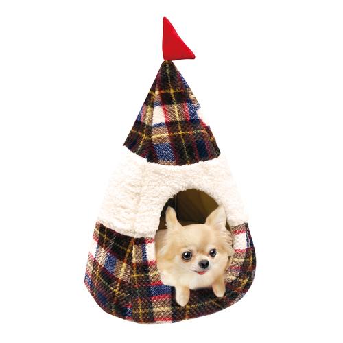 ドギーマン グランピングベッド ウォームチェック 犬猫用【数量限定】