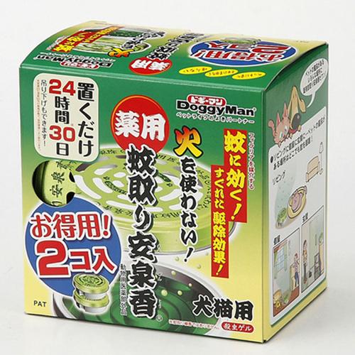 ドギーマン 薬用蚊取り安泉香 お得用 2個入(動物用医薬部外品)