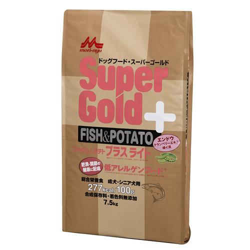 森乳 スーパーゴールド フィッシュ&ポテトプラスライト 肥満・関節の健康に配慮 7.5kg