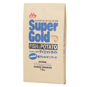 森乳 スーパーゴールド フィッシュ&ポテト ダイエットライト 低アレルゲンフード 7.5kg