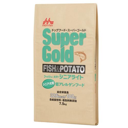 森乳 スーパーゴールド フィッシュ&ポテト シニアライト 低アレルゲンフード 7.5kg