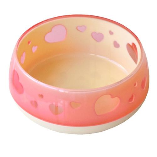 ペッツルート おいしく見えるワン食器 Sサイズ ピンクハート