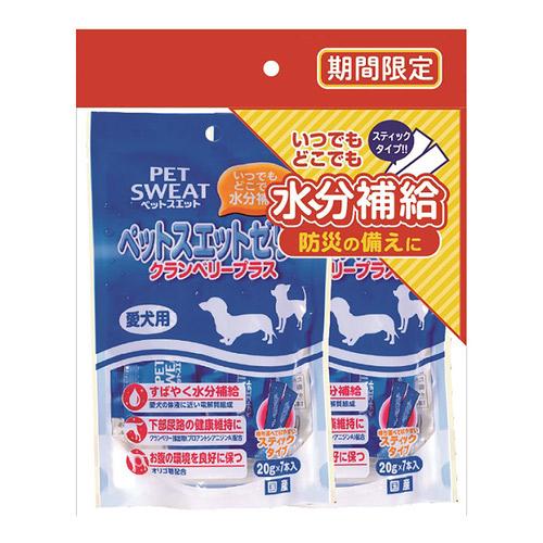 ペットスエットゼリー 愛犬用 クランベリープラス 7本×2個パック【期間限定】
