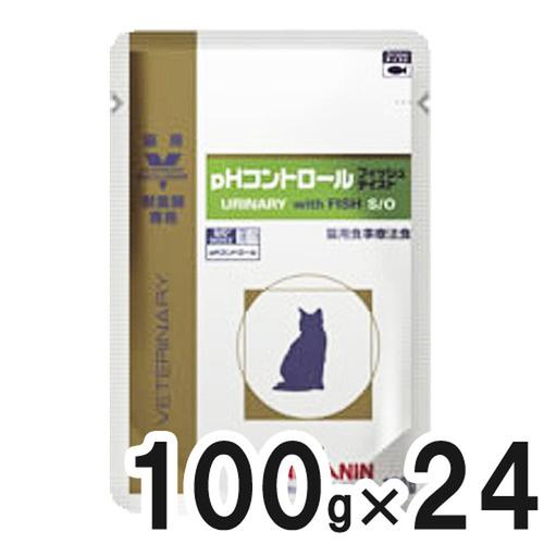 ロイヤルカナン 食事療法食 猫用 pHコントロール パウチ フィッシュテイスト 100g×24